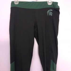 cropped michigan state leggings